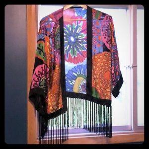 Free People gorgeous hippie fringe jacket